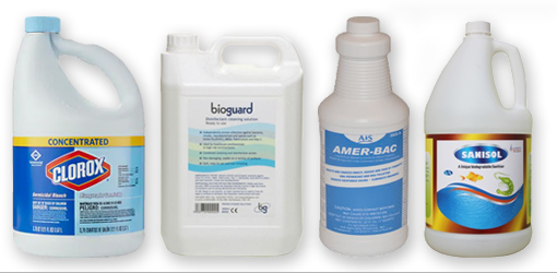 Four types of disinfectants