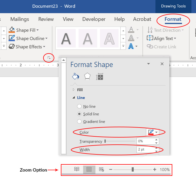 Screenshot of Microsoft Word toolbar